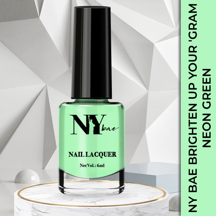 Buy Ny Bae Brighten Up Your Gram Nail Lacquer Neon Green 6 Online At Purplle Com