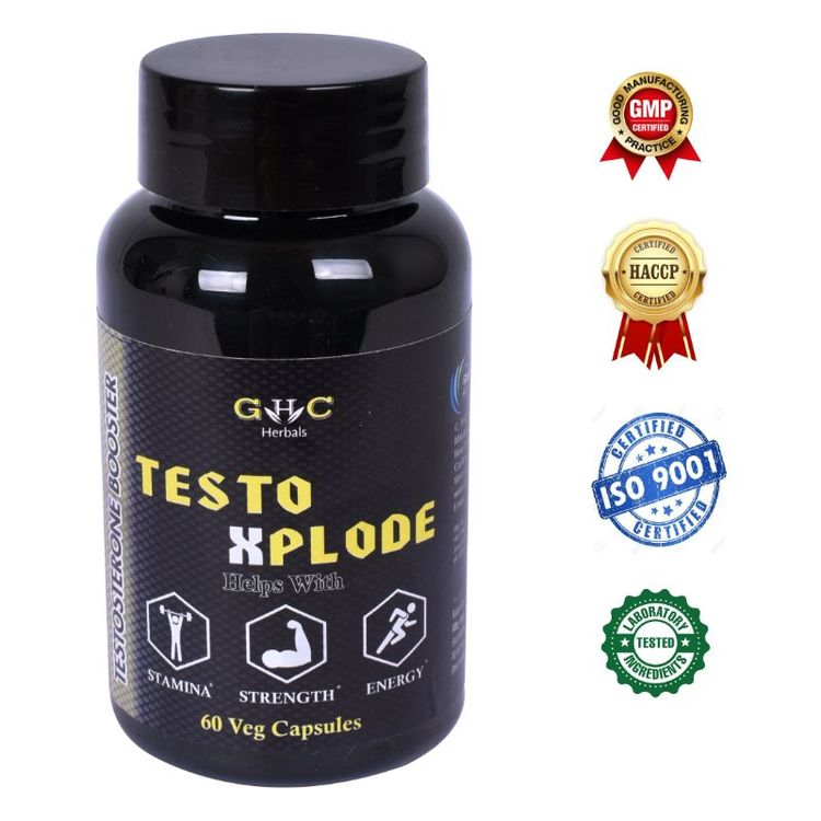 Buy GHC Herbals Testo Xplode Natural Testosterone Booster Supplement 60 Veg Capsules online at