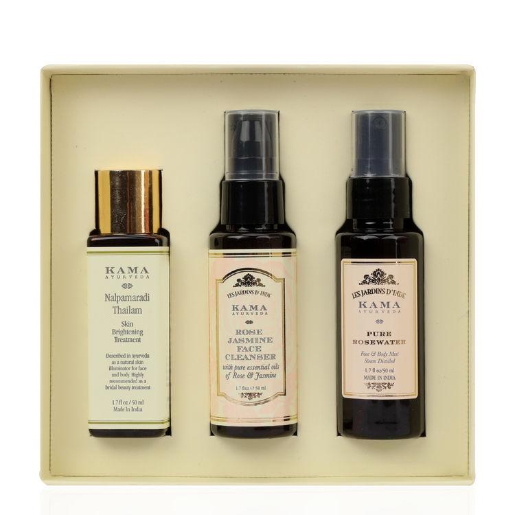 Buy Kama Ayurveda 3 Step Skincare Gift Box Online   Purplle