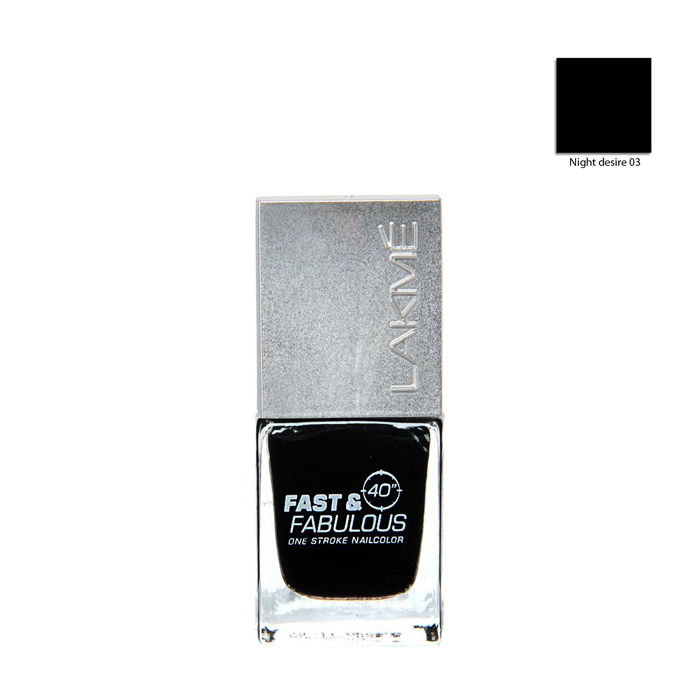 Buy Lakme Fast & Fabulous Night Desire Nail Polish 03 (10 ml)-Purplle