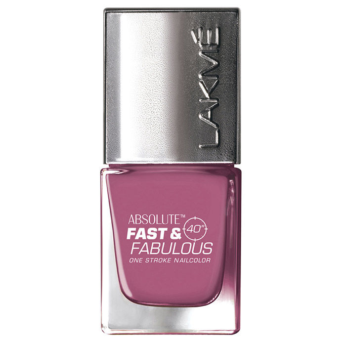 Buy Lakme Fast & Fabulous Wicked Pink Nail Polish 22 (10 ml)-Purplle