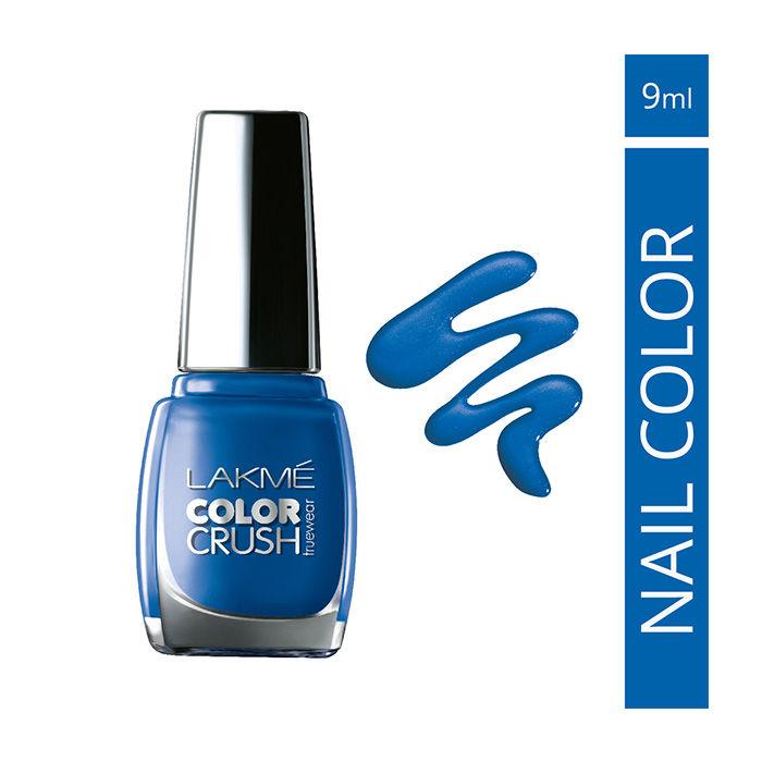 Buy Lakme True Wear Color Crush Nail Color Blue 02 (9 ml)-Purplle