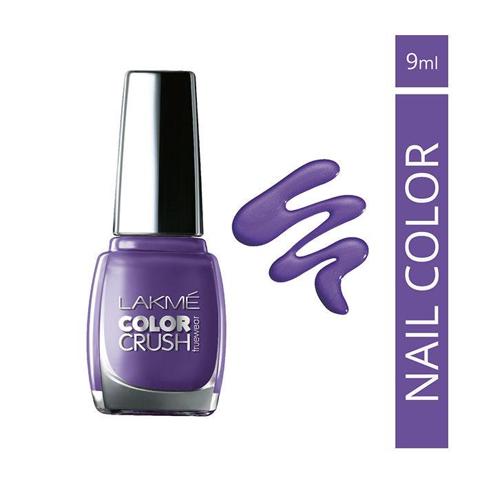 Buy Lakme True Wear Color Crush Nail Color Lavender 13 (9 ml)-Purplle