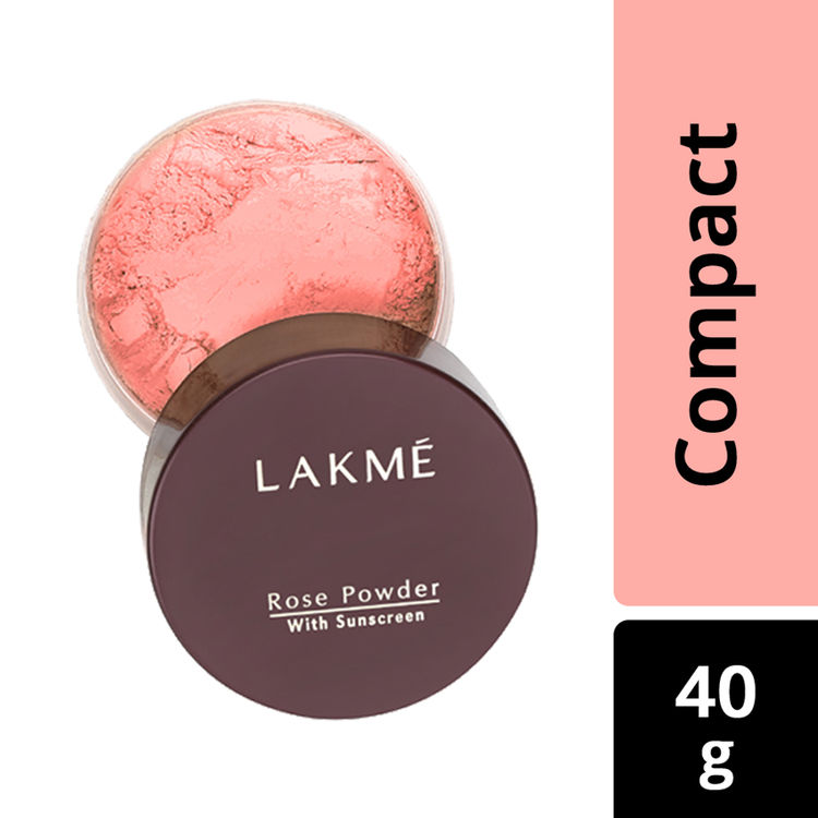 Buy Lakme Rose Face Powder With Sunscreen - Warm Pink (40 g)-Purplle