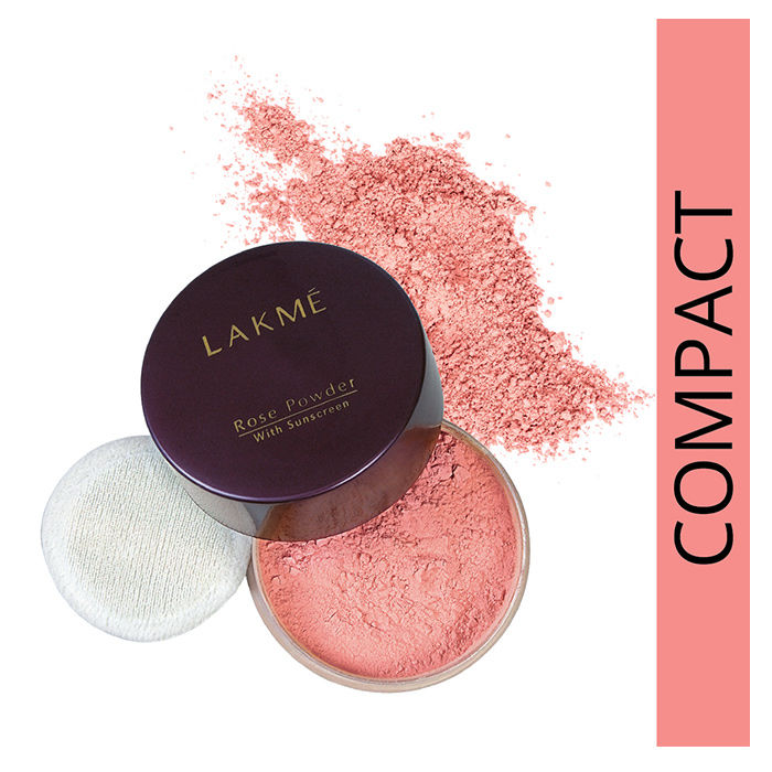 Buy Lakme Rose Face Powder Soft Pink (40 g)-Purplle