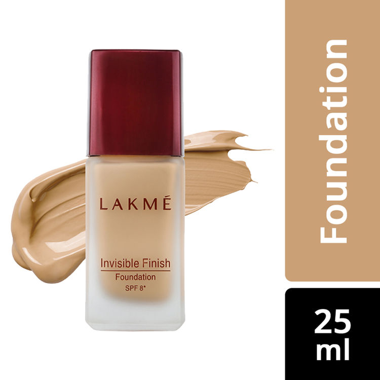 Buy Lakme Invisible Finish SPF 8 Foundation - Shade 04 (25 ml)-Purplle
