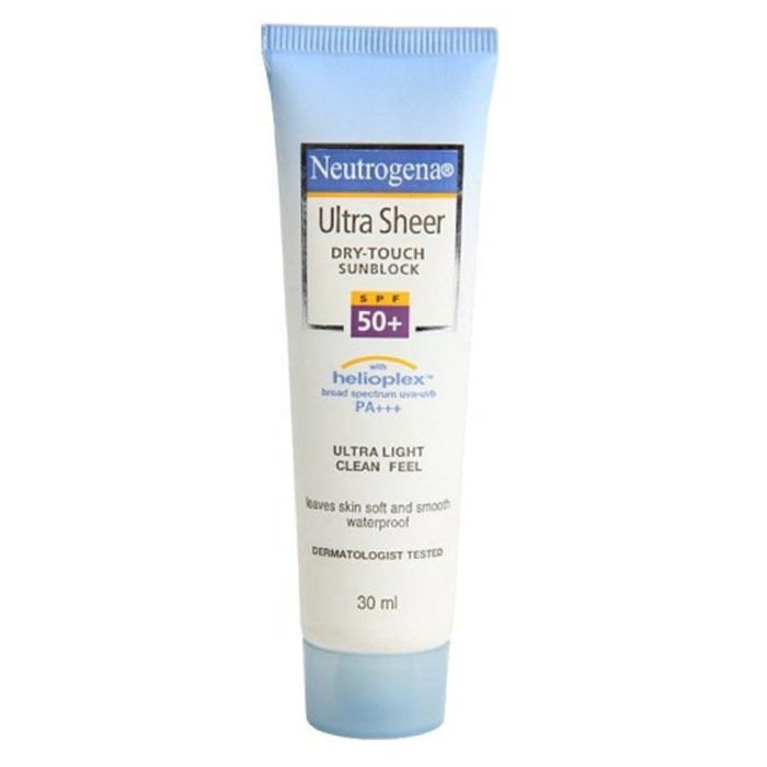 Buy Neutrogena Ultra Sheer Dry-Touch Ultra Light Clean Feel SPF - 50 (30 ml)-Purplle