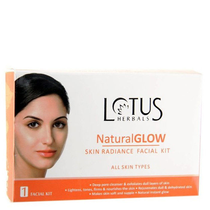 Buy Lotus Herbals Natural Glow Skin Radiance Facial Kit (Kit)-Purplle