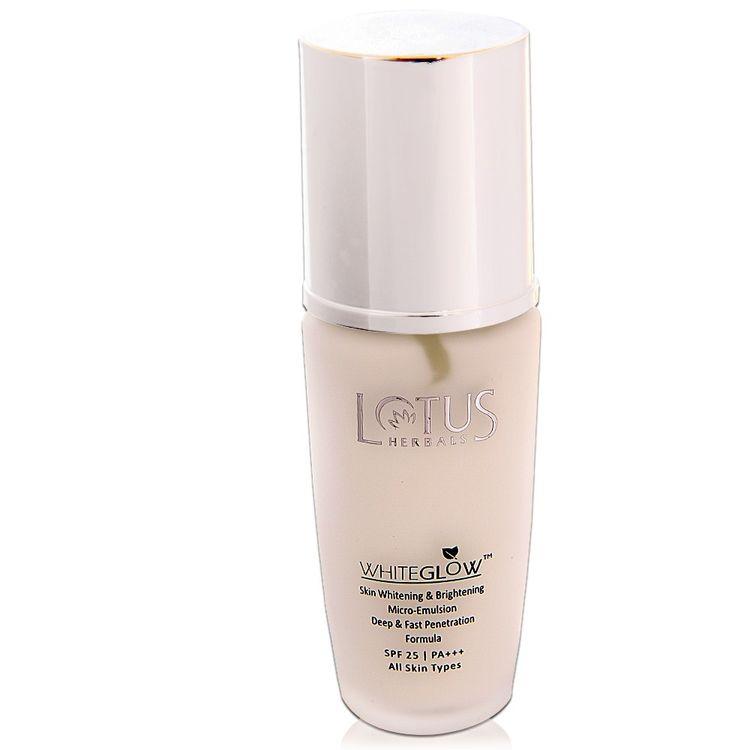 Buy Lotus Herbals Whiteglow Skin Whitening & Brightening Micro-emulsion Lotion SPF 25 (40 ml)-Purplle