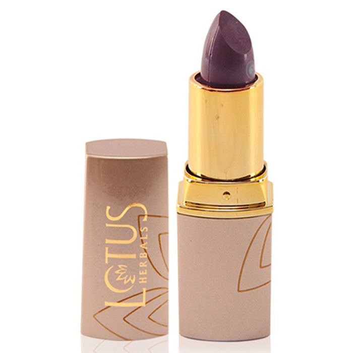 Buy Lotus Herbals Pure Colors Moisturising Lipstick Hot Plum 643 (4.2 g)-Purplle