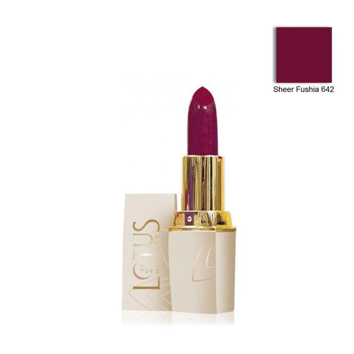 Buy Lotus Herbals Pure Colors Moisturising Lipstick Sheer Fuschia 642 (4.2 g)-Purplle