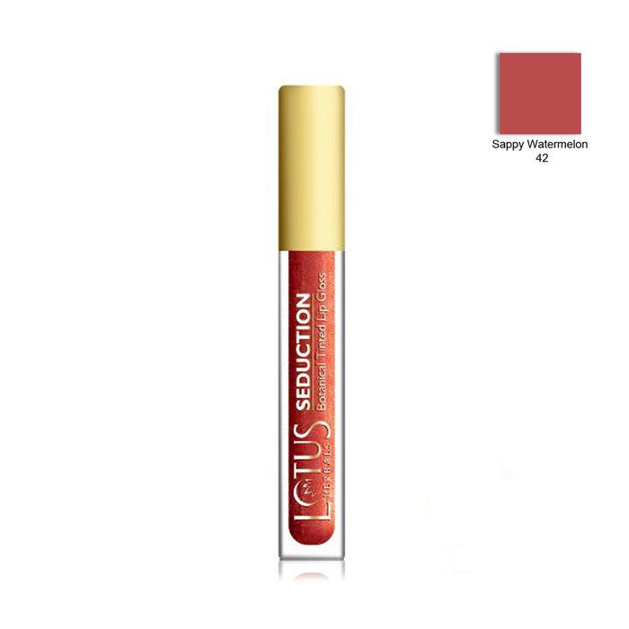 Buy Lotus Herbals Seduction Lip Gloss Sappy Watermelon 42 (4 g)-Purplle