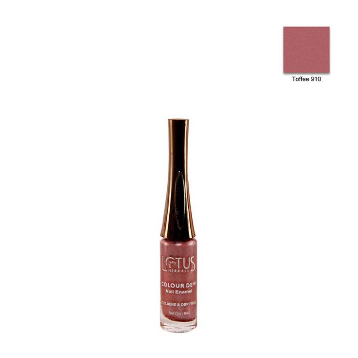 Buy Lotus Herbals Color Dew Nail Enamel Toffee 910 (7 ml)-Purplle