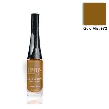 Buy Lotus Herbals Color Dew Nail Enamel Gold Mist 972 (8 ml)-Purplle