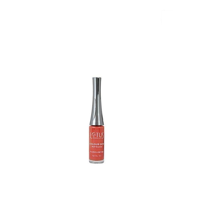 Buy Lotus Herbals Color Dew Nail Enamel Orange Alert 82 (7 ml)-Purplle