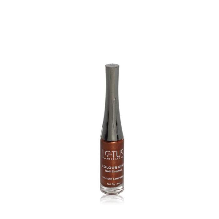 Buy Lotus Herbals Color Dew Nail Enamel Brownie Glaze 84 (7 ml)-Purplle