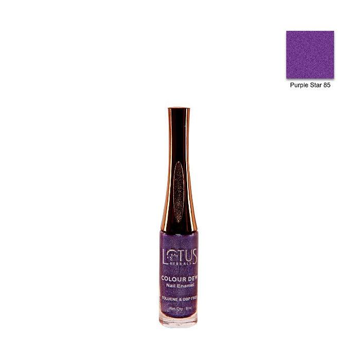 Buy Lotus Herbals Color Dew Nail Enamel Purple Star 85 (7 ml)-Purplle