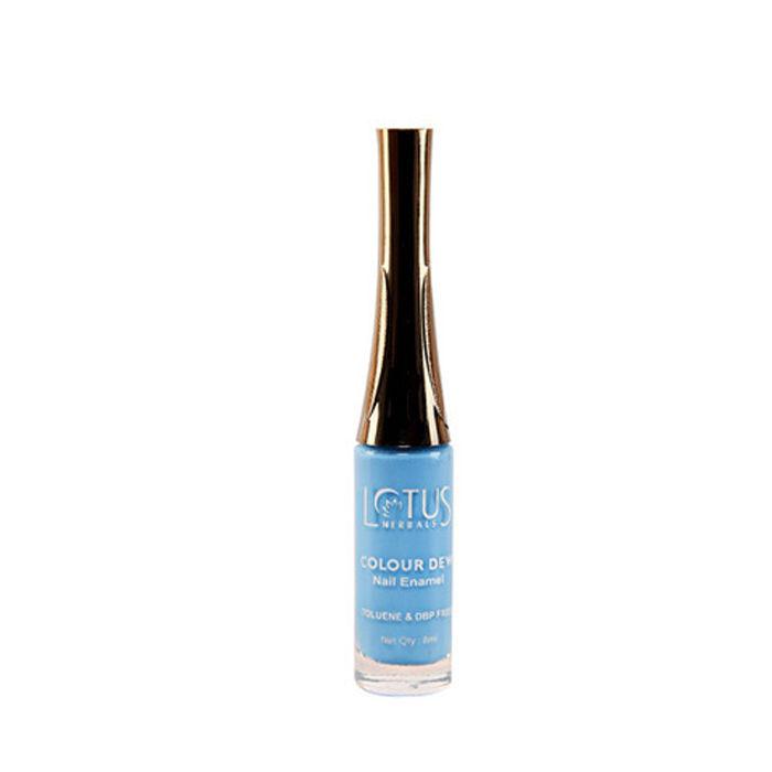 Buy Lotus Herbals Color Dew Nail Enamel Deep Sea 86 (8 ml)-Purplle