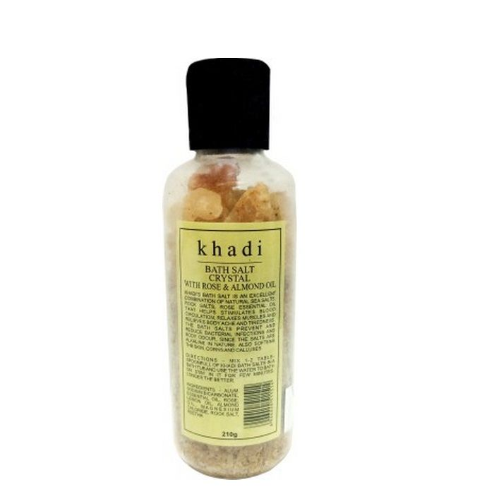 Buy Khadi Bath Salts Crystals With Rose & Almond Oil (210 g)-Purplle