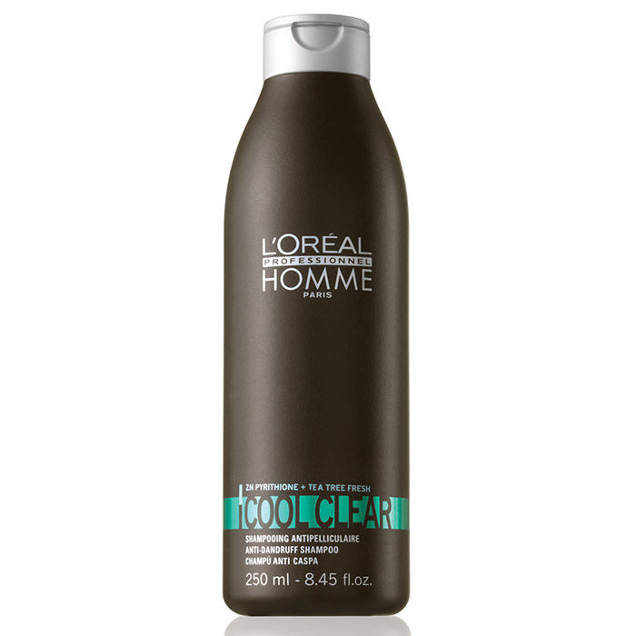 Buy L'Oreal Professionnel Homme Cool Clear Anti Dandruff Shampoo (250 ml)-Purplle