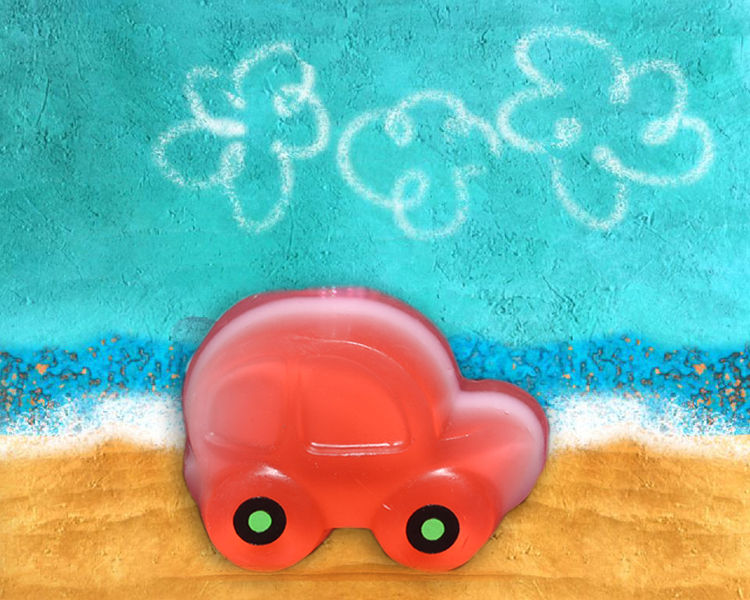 Buy Soap Opera Glycerin Based Soaps Car for Kids (110g)-Purplle