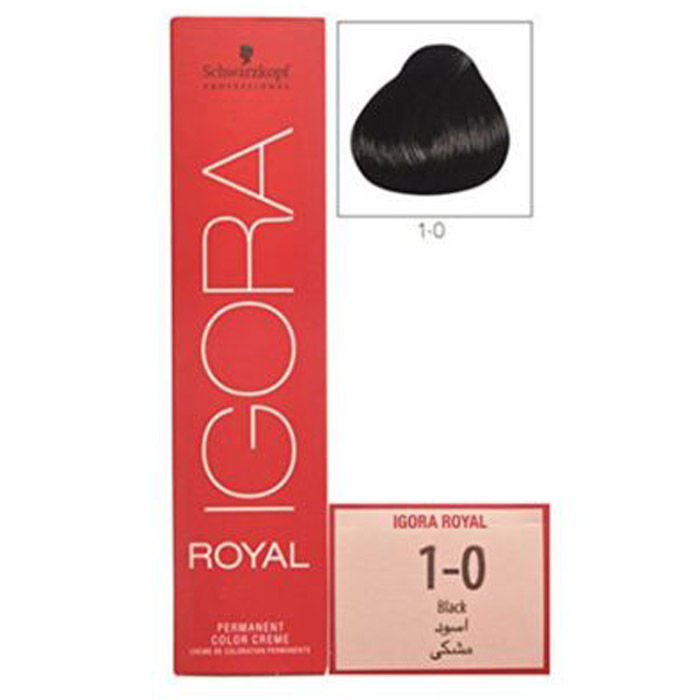 Buy Schwarzkopf IGORA Royal Natural Black 1-0 (60 ml)-Purplle
