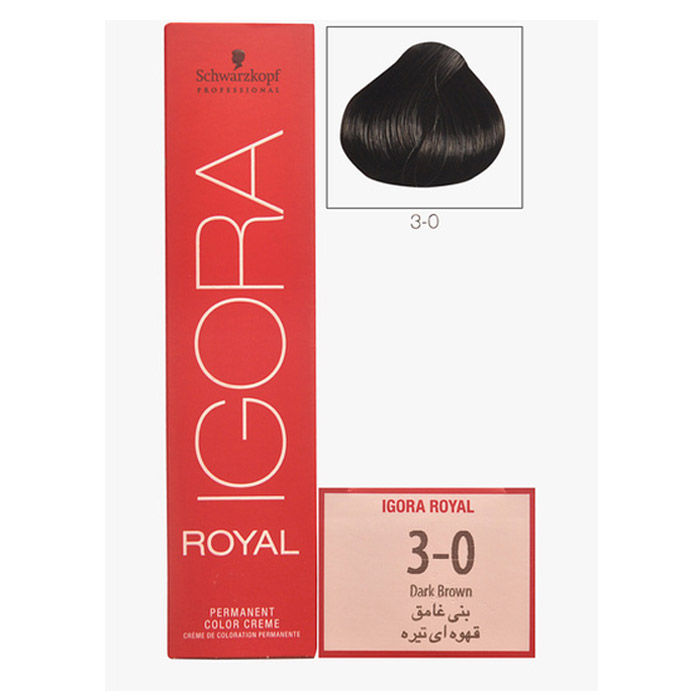 Buy Schwarzkopf IGORA Royal Natural Dark Brown 3-0 (60 ml)-Purplle