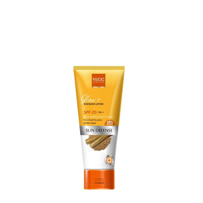 Buy VLCC Glow+ Sun Block Lotion SPF-20 (80 ml)-Purplle