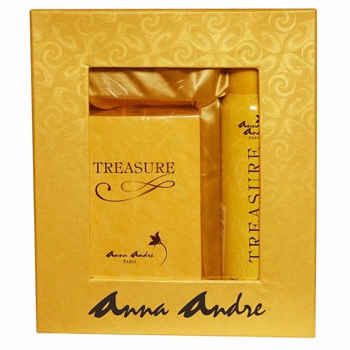 Buy Anna Andre Paris Treasure EDT + Deodorant Gift Set For Men-Purplle