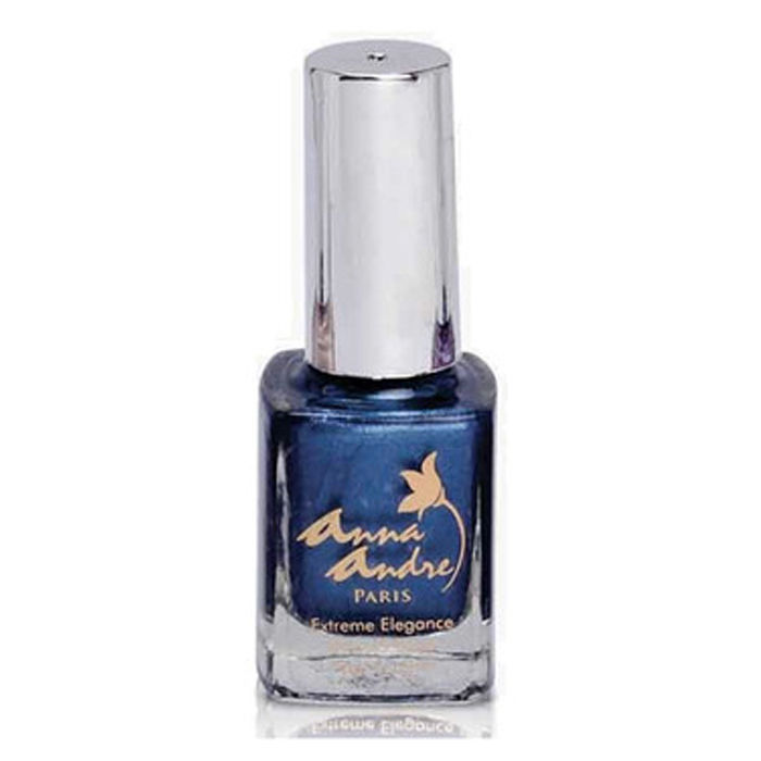 Buy Anna Andre - Extreme Elegance Gloss and Shine Nail Enamel 80088 Stormy Blue (9 ml)-Purplle