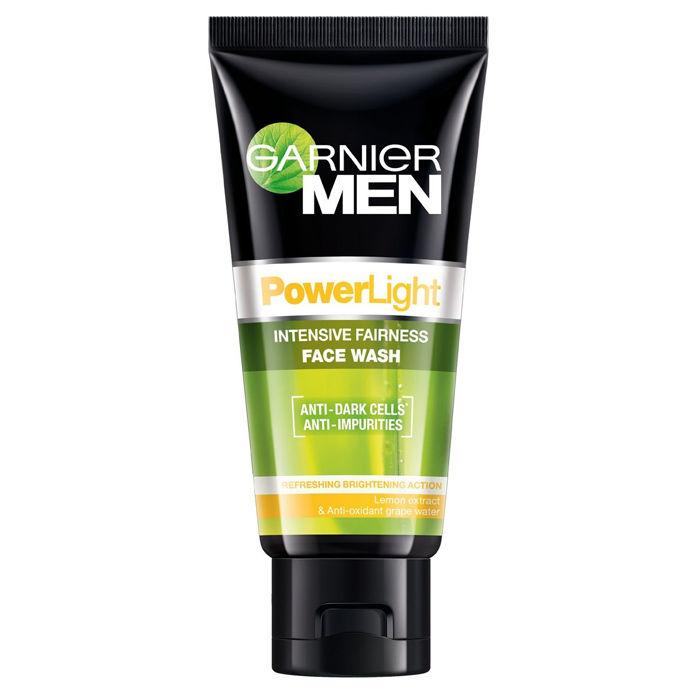 Buy Garnier Men Powerlight Intensive Fairness Face Wash (50 g)-Purplle