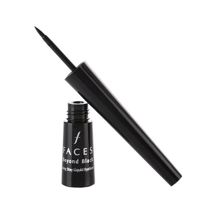 Buy Faces Canada Beyond Black Long Stay Liquid Eye Liner Black 1 (2.5 ml)-Purplle