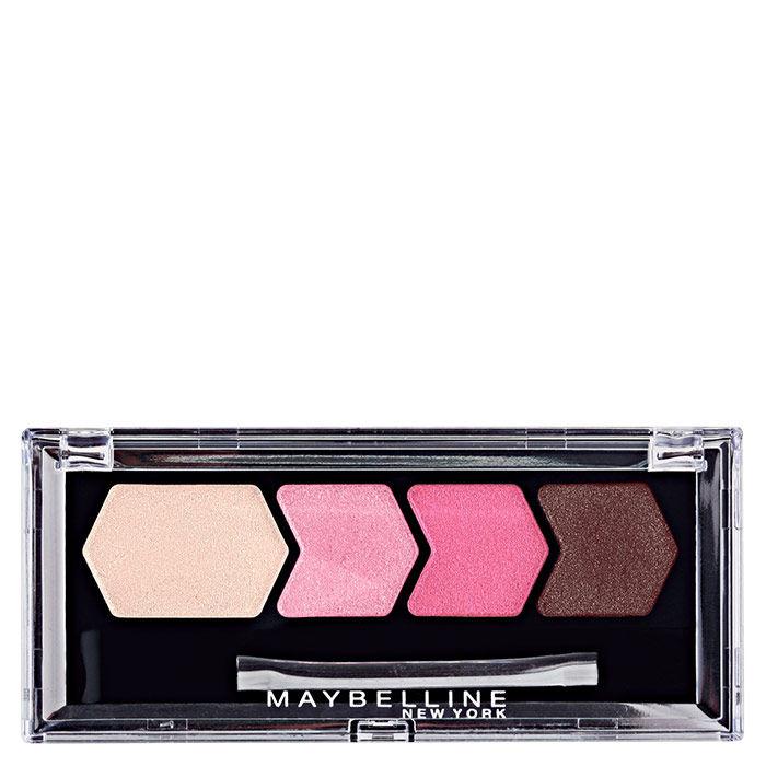 Buy Maybelline Diamond Glow Quad Eye Shadow Wine Pink (Pack of 2)-Purplle