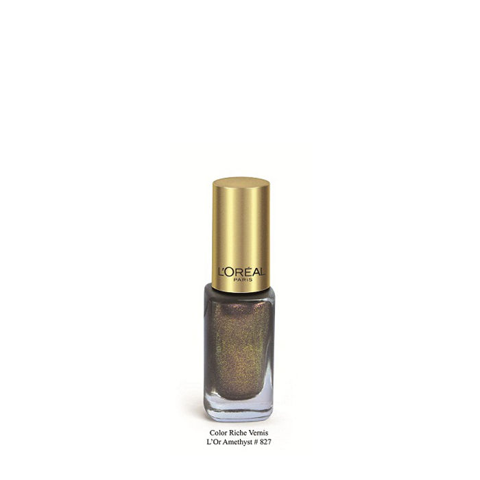 Buy L'Oreal Paris Color Riche Vernis L'Or Amethyst Nail Polish 827-Purplle