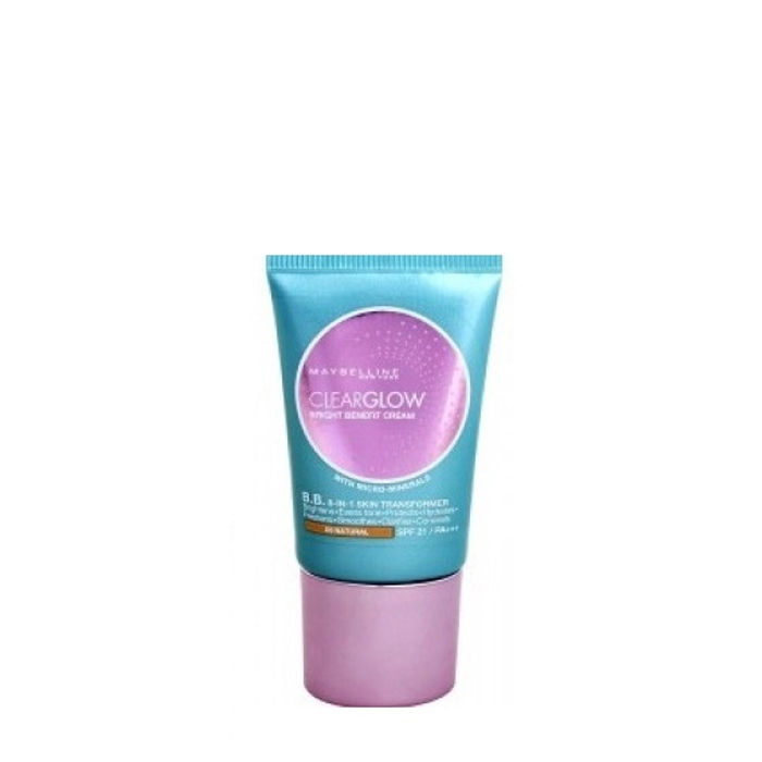 Buy Maybelline New York Clear Glow BB Cream JS1 (18 ml)-Purplle