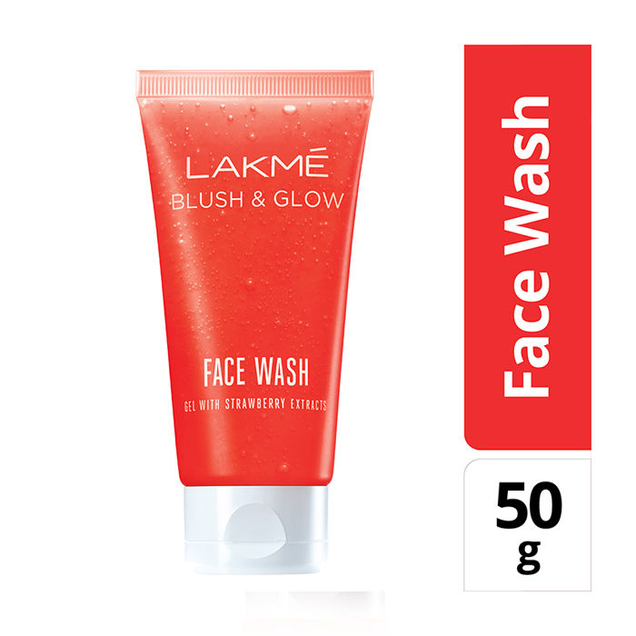 Buy Lakme Blush & Glow Strawberry Gel Face Wash (50 g)-Purplle