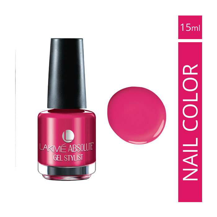 Buy Lakme Absolute Gel Stylist Nail Colour Pink Burst (15 ml)-Purplle