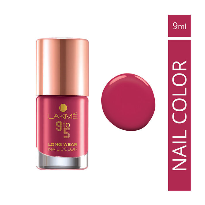 Buy Lakme 9 to 5 Long Wear Nail Color Berry Business (9 ml)-Purplle