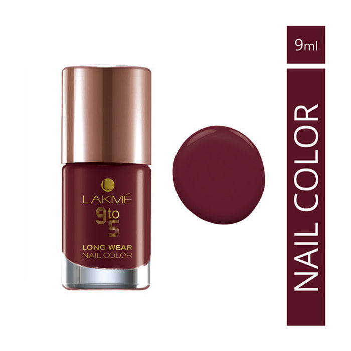 Buy Lakme 9 to 5 Long Wear Nail Color Red Alert - (9 ml)-Purplle