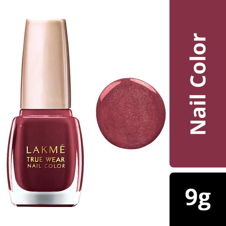 Buy Lakme True Wear Nail Color - Reds & Maroons D417 (9 ml)-Purplle