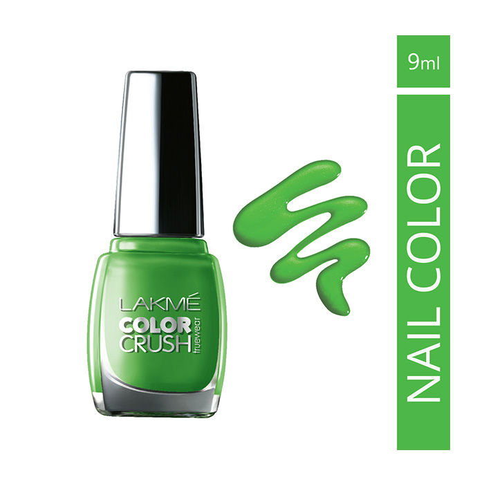 Buy Lakme True Wear Color Crush Nail Color Green 06 (9 ml)-Purplle
