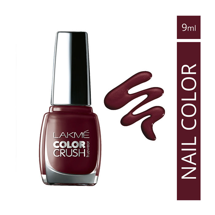 Buy Lakme True Wear Color Crush Nail Color Reds 33 (9 ml) online ...