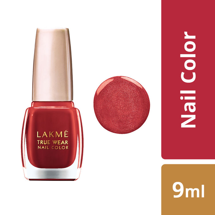 Buy Lakme True Wear Nail Color - Classics Siren Red 404 (9 ml)-Purplle