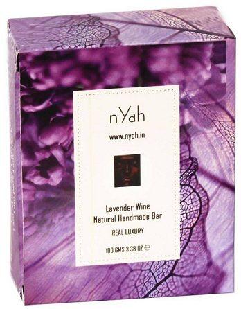 Buy nYah Lavender Wine Handmade Natural Soap (100 g)-Purplle