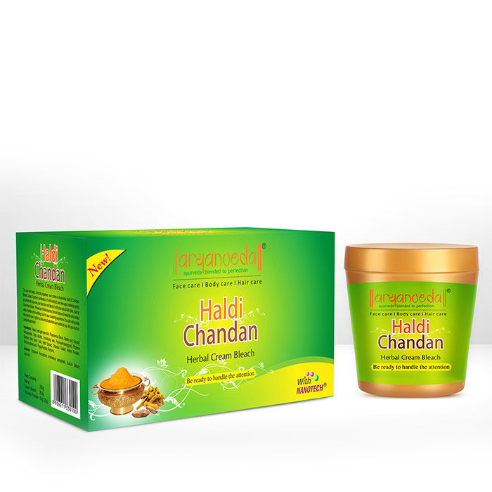 Buy Aryanveda Haldi-Chandan Bleach Cream  (250 g)-Purplle