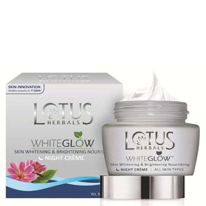 Buy Lotus Herbals Whiteglow Skin Whitening and Brightening Nourishing Night Cream (60 g)-Purplle