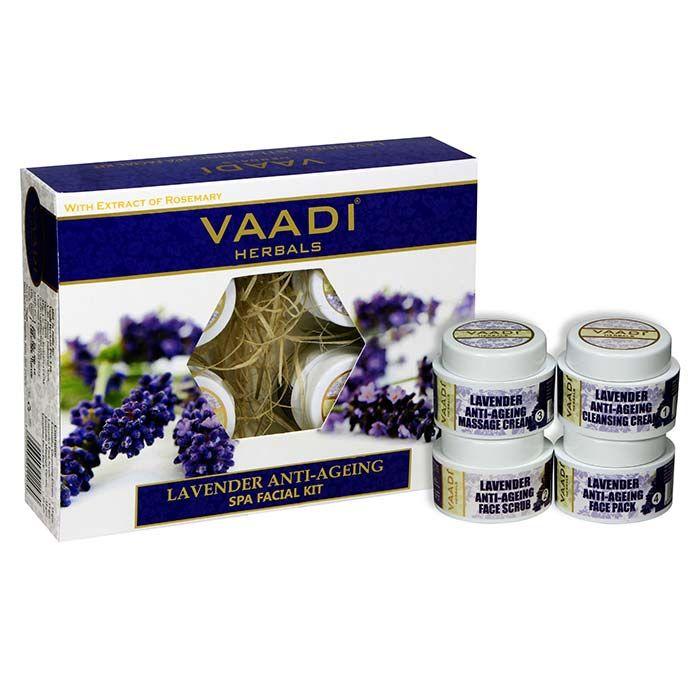 Buy Vaadi Herbals Lavender Anti Ageing Spa Facial Kit (70 g)-Purplle