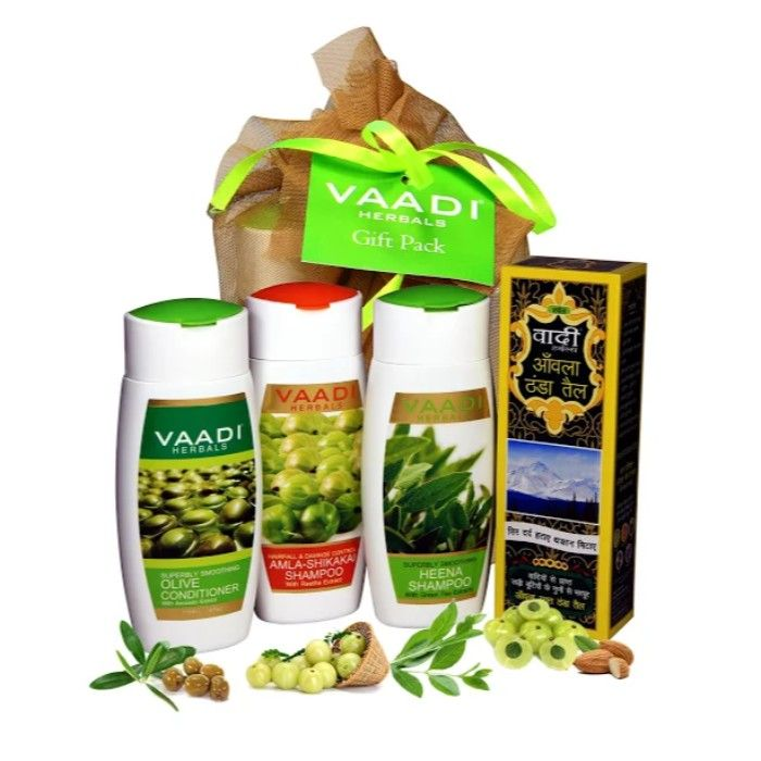 Buy Vaadi Herbals Shiny Hair Gift Pack (430 g)-Purplle