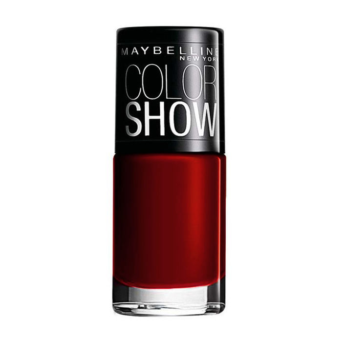 Buy Maybelline New York Color Show Nail Color Downtown Red 216 (6 ml)-Purplle