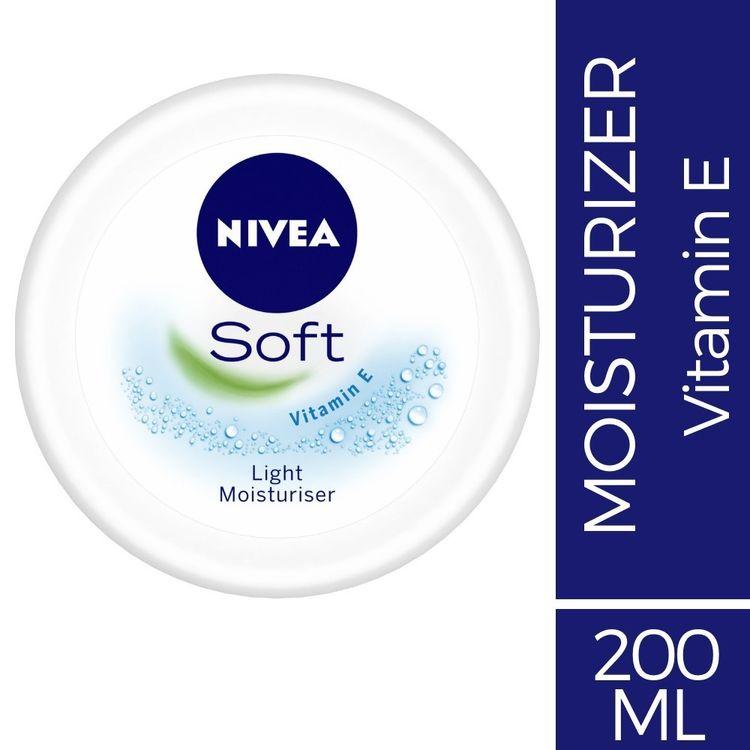 Buy NIVEA Soft, Light Moisturising Cream, 200ml-Purplle